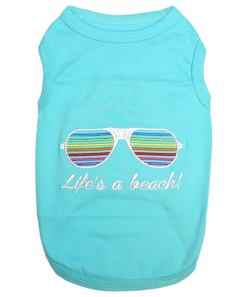 Blue Dog Shirt - Life's A Beach