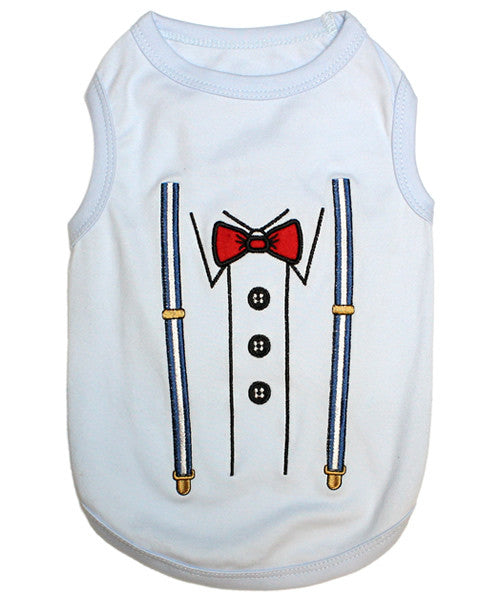 White Dog Shirt - Suspender