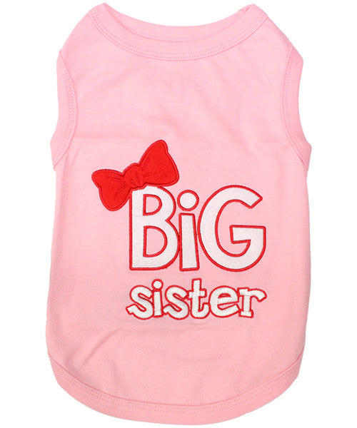 Pink Dog Shirt - Big Sister