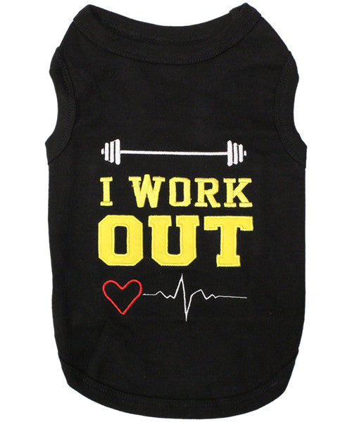 Black Dog Shirt - I Work Out
