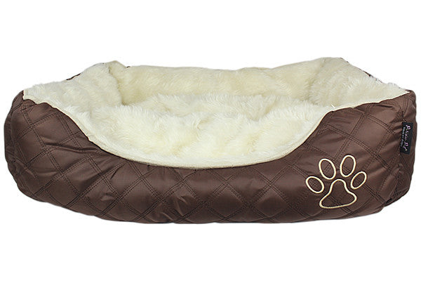 Oxford Quilted Bed - Brown