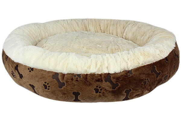 Paw Prints Bed - Brown