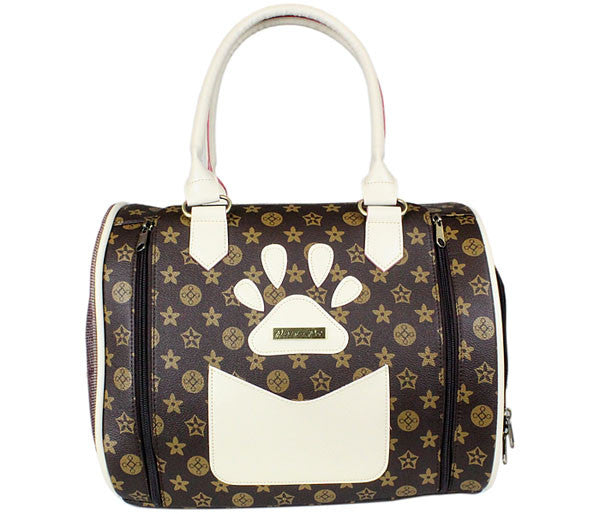 Brown Pet Carrier Handbag - Versailles