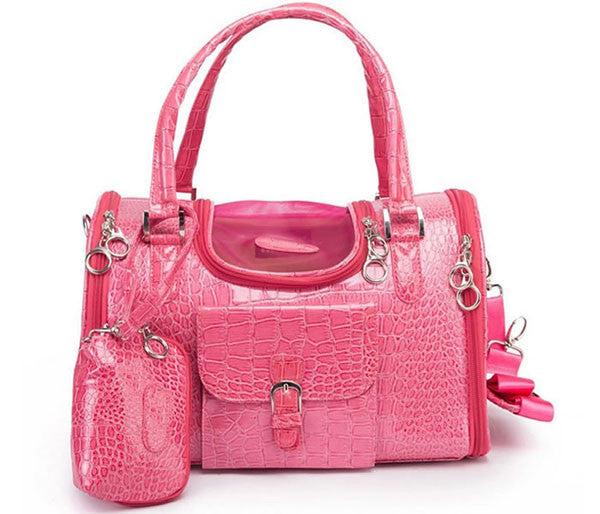 Pink Pet Carrier - Parisian Pet - Croc Carrier