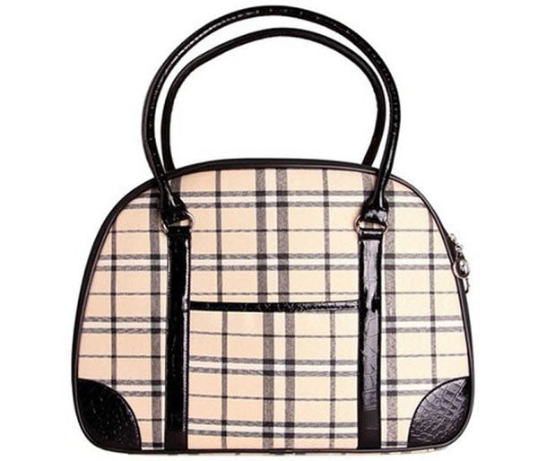 Plaid Pet Carrier - Parisian Pet - Milan