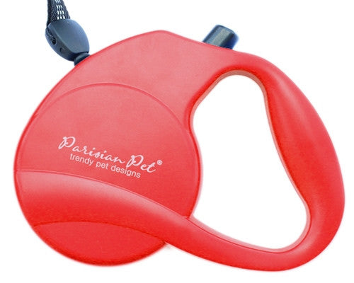 Retractable Leash M - Red