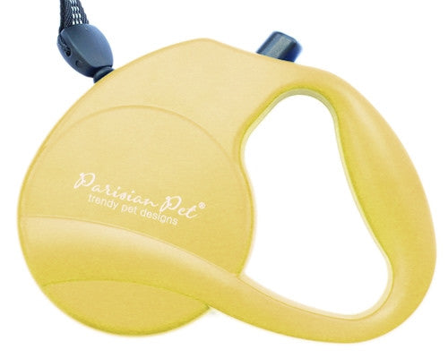 Retractable Leash M - Yellow