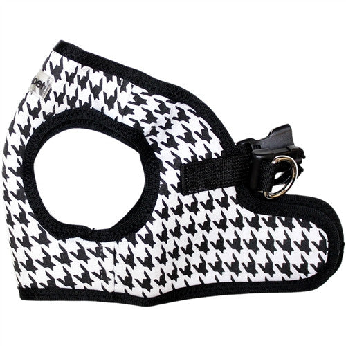 Dog Harness - Step-In - Black Houndstooth