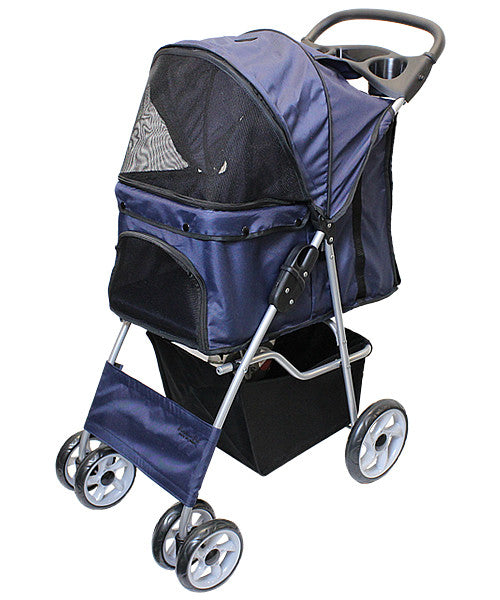 Dark Blue Dog Stroller