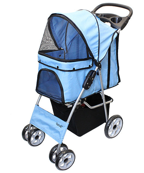 Light Blue Dog Stroller