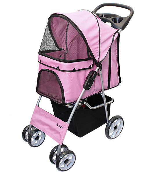 Light Pink Dog Stroller