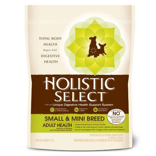 Holistic Select Natural Dry Small Breed Dog Food, Anchovy, Sardine & Chicken