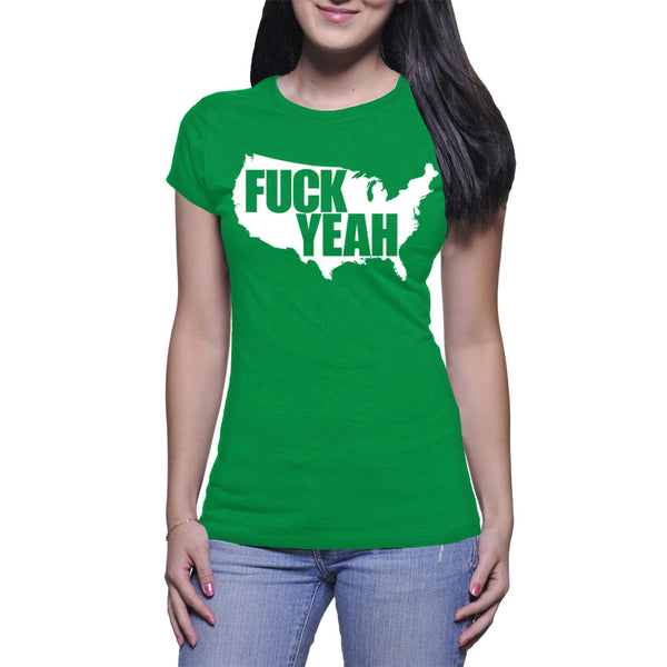 LADIES T-SHIRT - GREEN - UNCENSORED
