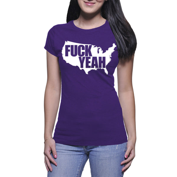 LADIES T-SHIRT - PURPLE - UNCENSORED