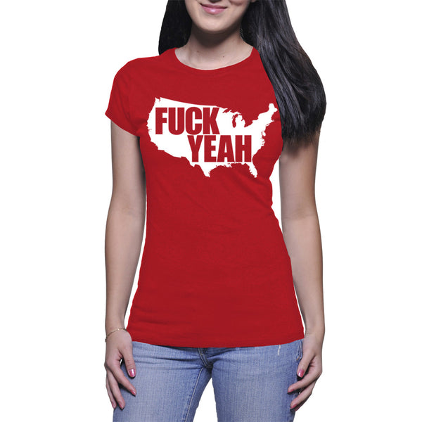 LADIES T-SHIRT - RED - UNCENSORED