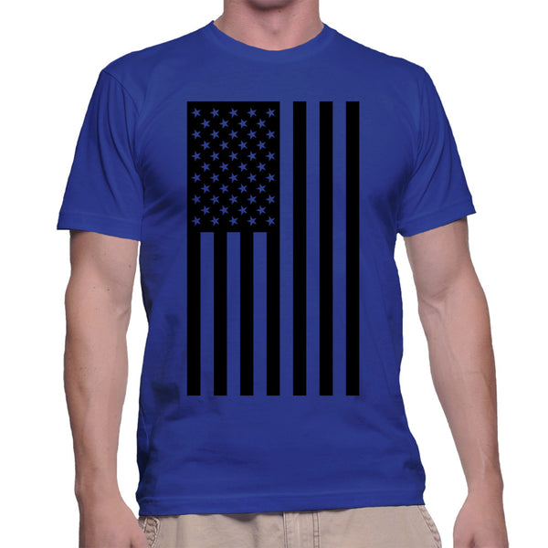 AMERICAN FLAG T-SHIRT - BLUE