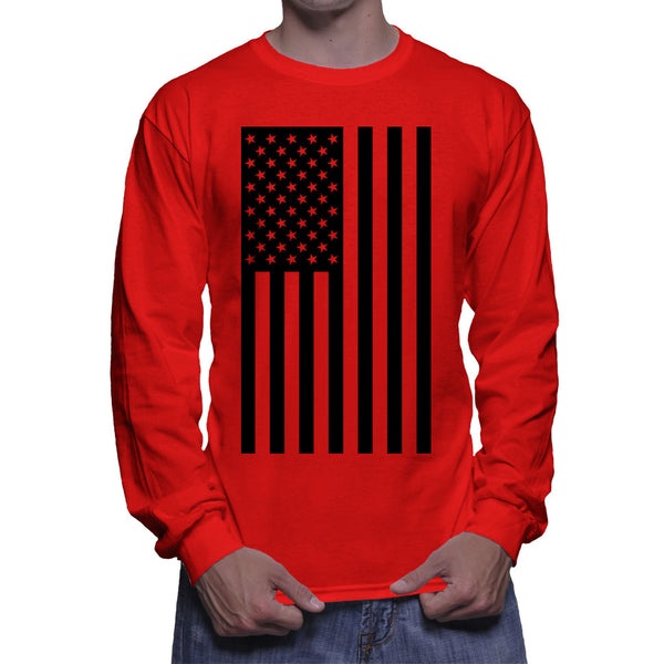 AMERICAN FLAG LONG SLEEVE - RED