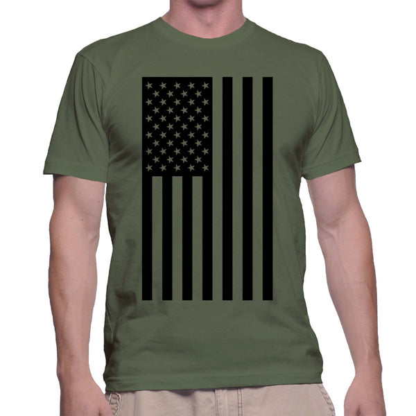 AMERICAN FLAG T-SHIRT - MILITARY GREEN