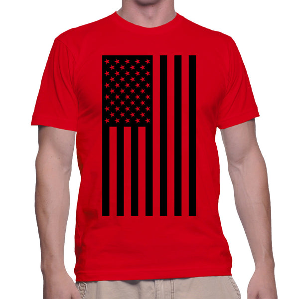 AMERICAN FLAG T-SHIRT - RED