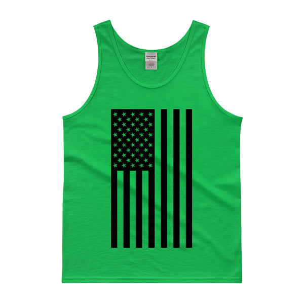 AMERICAN FLAG TANK TOP - GREEN