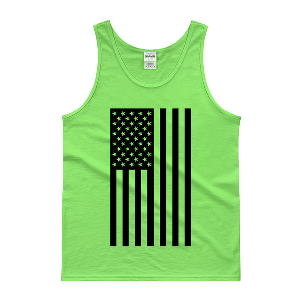 AMERICAN FLAG TANK TOP - LIME