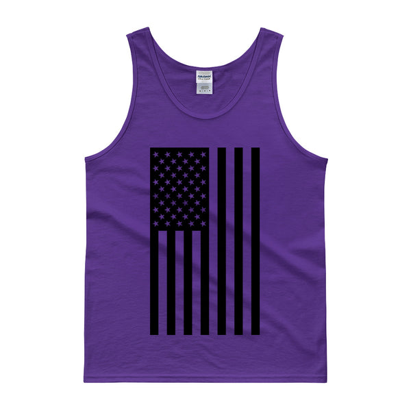 AMERICAN FLAG TANK TOP - PURPLE