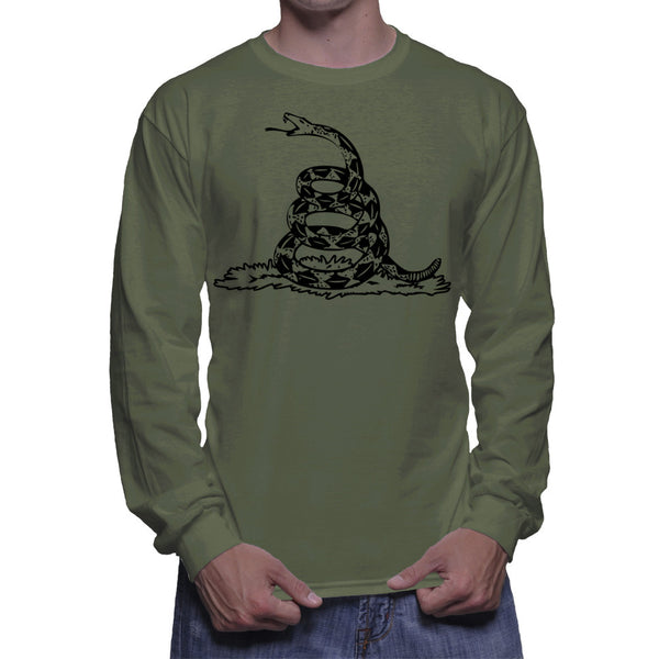 GADSDEN FLAG LONG SLEEVE - MILITARY GREEN