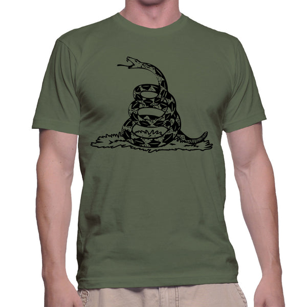 GADSDEN FLAG T-SHIRT - MILITARY GREEN