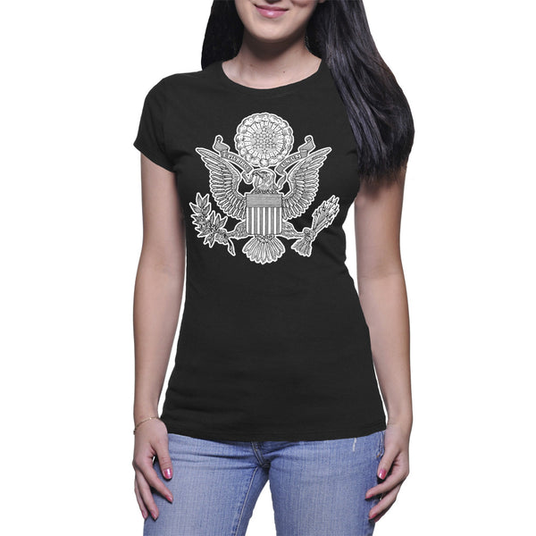 GREAT SEAL LADIES T-SHIRT - BLACK