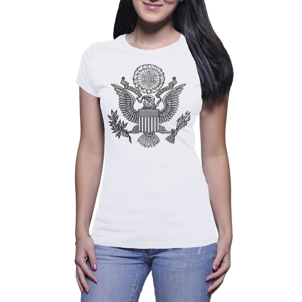 GREAT SEAL LADIES T-SHIRT - WHITE