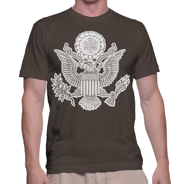 GREAT SEAL T-SHIRT - CHOCOLATE