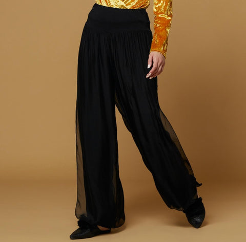 Silk Solid Pants, 11 Colors