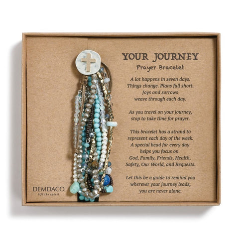 Your Journey Prayer Bracelet, Turquoise