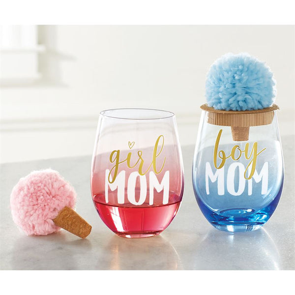 Girl Mom Wine Glass