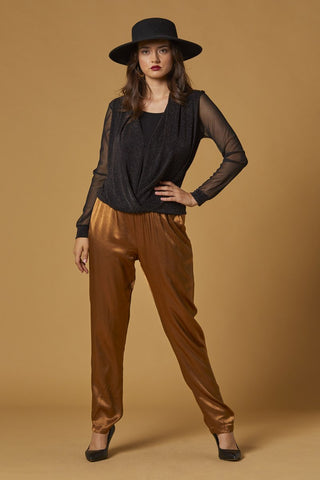 Silk Maluka Pants, Rust