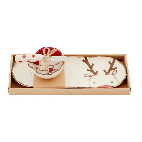 Reindeer Tray and Santa Dip Set