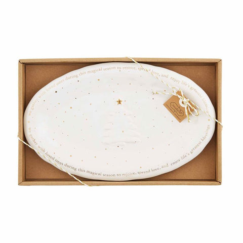 Gold Splatter Gold Boxed Plate