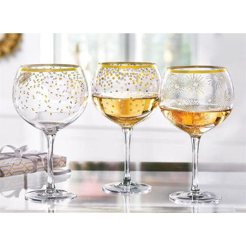 Gold and Silver Wine Glasses