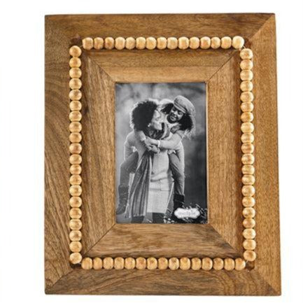 Beaded Wood Frame, Large Rectangle