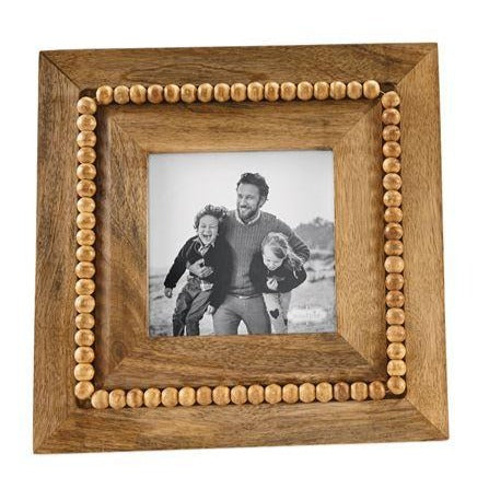 Beaded Wood Frame, Large Square
