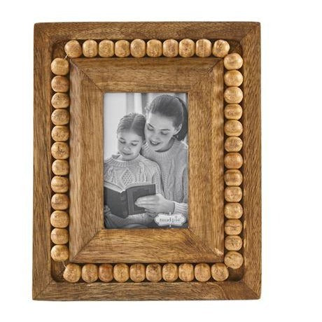 Beaded Wood Frame, Small Rectangle