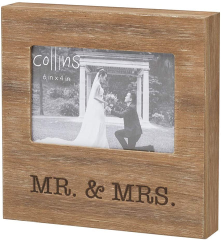 Mr. and Mrs. Burned Wood Frame