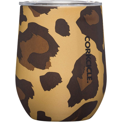 Corkcicle Stemless Wine Cup, Leopard