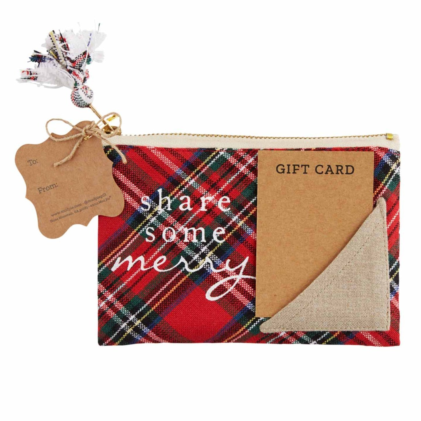Share Some Merry Plaid Gift Pouch