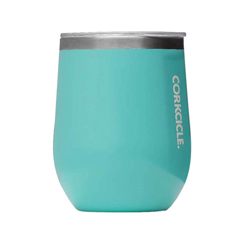 Corkcicle Stemless Wine Cup, Gloss Turquoise