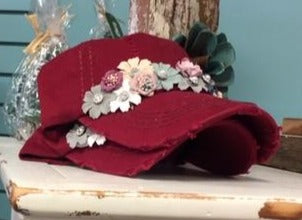 Floral Hat, 2 Colors