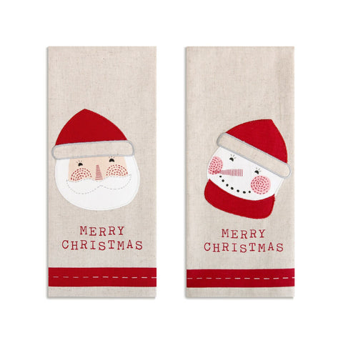 Christmas Hand Towels, Set of Two