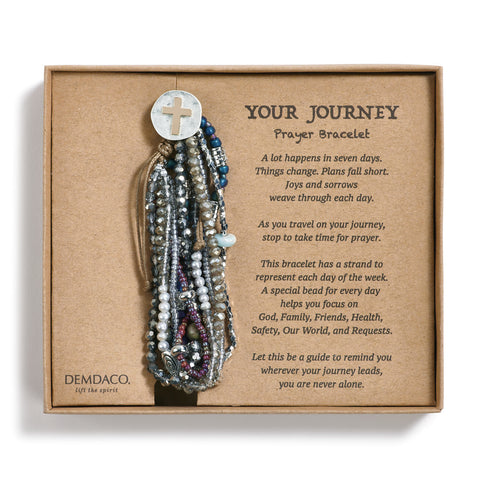 Your Journey Prayer Bracelet, Gray