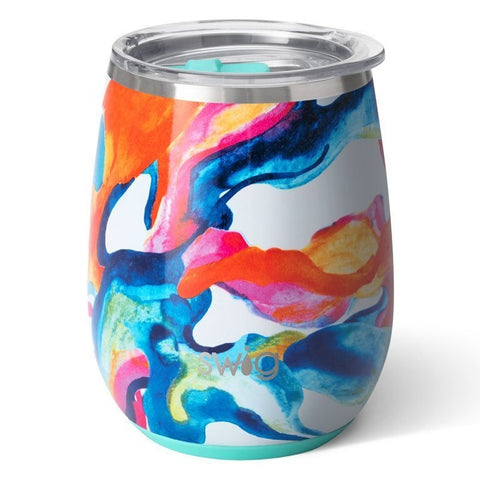 Swig Stemless Wine Cup, Color Swirl