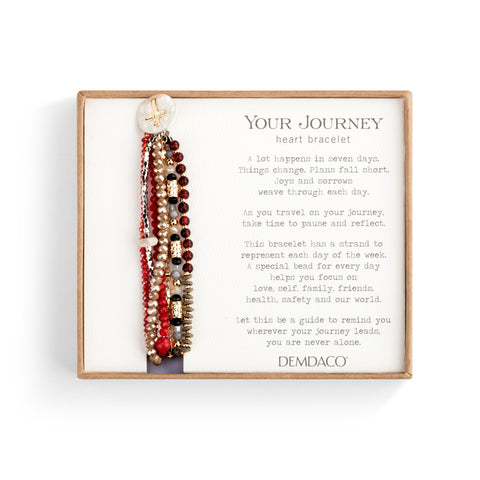 Beaded Prayer Bracelet, Garnet